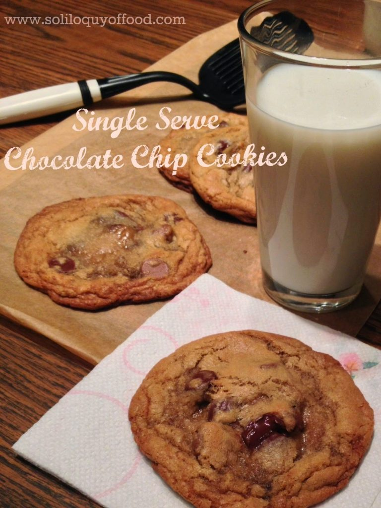 Single Serve Chocolate Chip Cookies