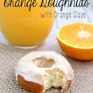 Orange Doughnuts with Orange Glaze