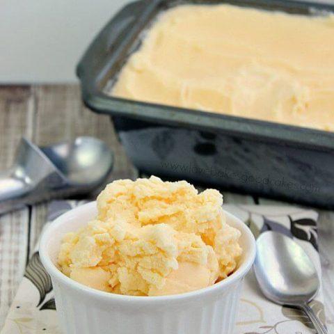 Peach Mango Ice Cream {Three  ;Ingredients}