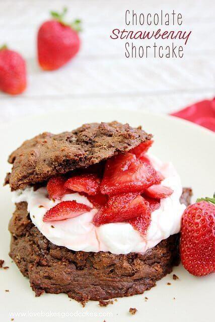 Chocolate Strawberry Shortcake  #StrawShortcake