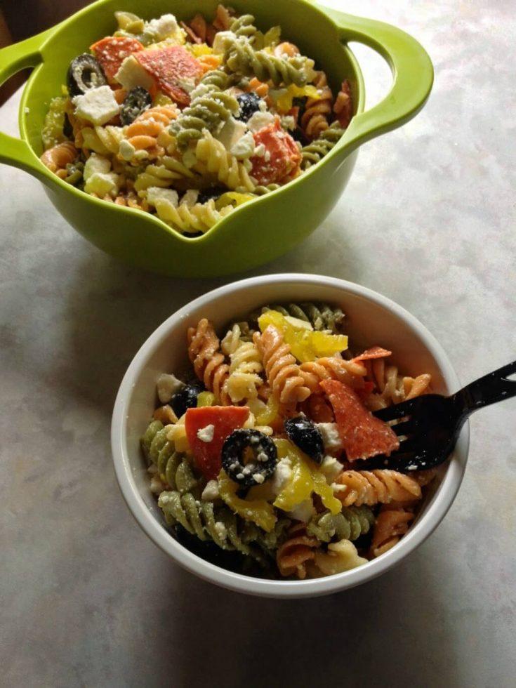 Pepperoni & Feta Pasta Salad