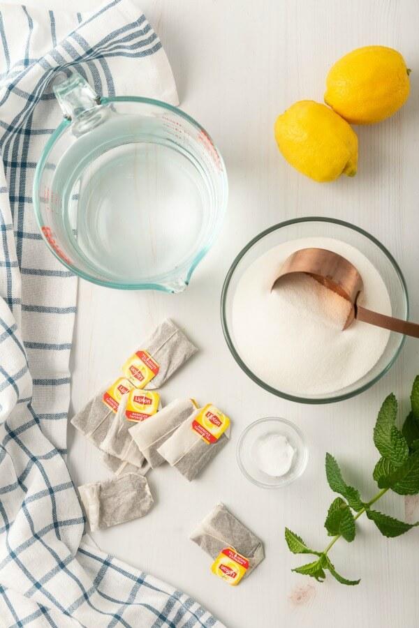 ingredients needed to make sweet tea
