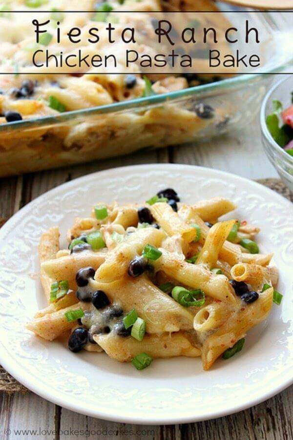 Fiesta Ranch Chicken Pasta Bake