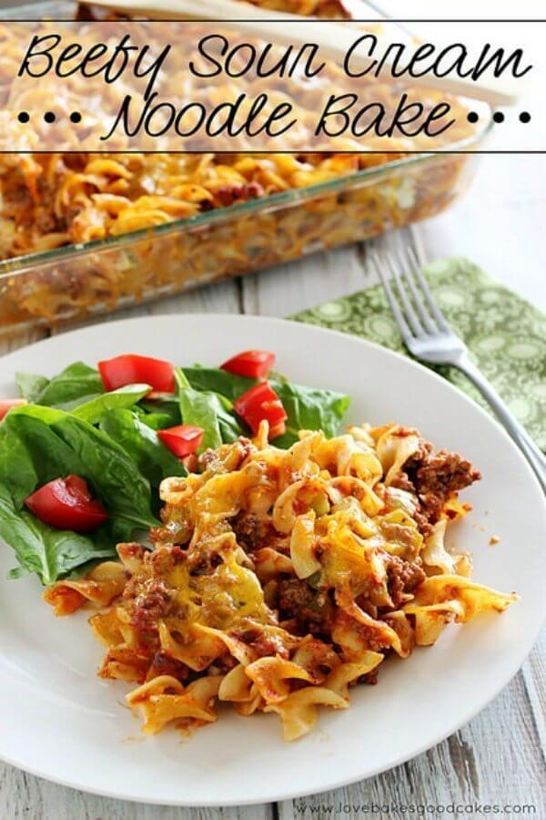 Beefy Sour Cream Noodle Bake