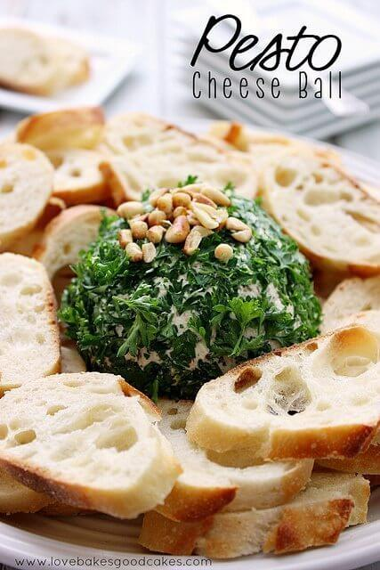 Pesto Cheese Ball and Christmas in July