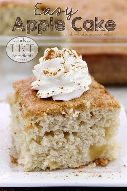 Easy Apple Cake – Only 3 Ingredients!