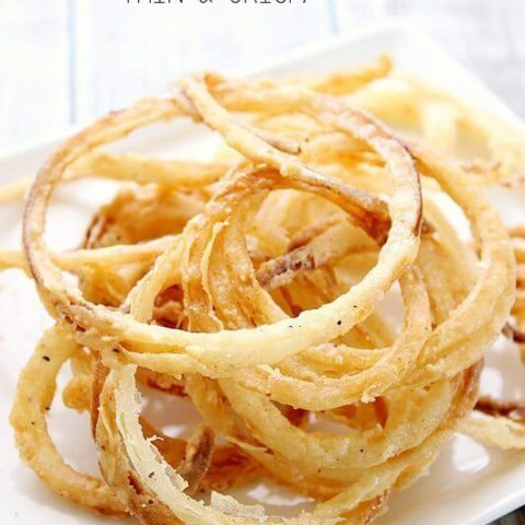 Onion Rings - Thin and Crispy!