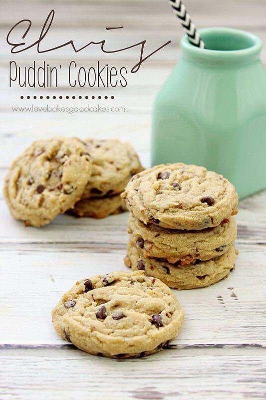 Elvis Puddin' Cookies #baconmonth #putsomepiginit