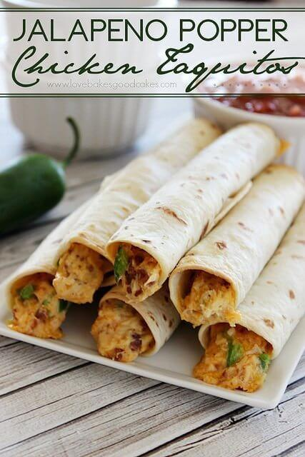 Jalapeno Popper Chicken Taquitos #baconmonth #putsomepiginit