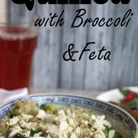 Quinoa with Broccoli {and feta!!}