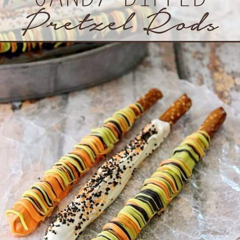 Candy Dipped Pretzel Rods