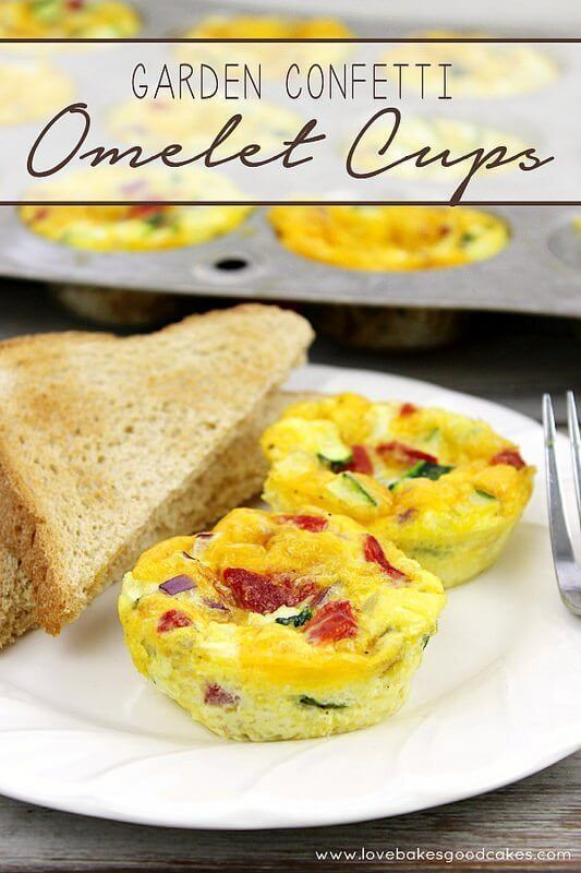 Garden Confetti Omelet Cups and a GIVEAWAY!