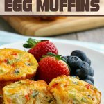 finished breakfast egg muffins plated and ready to be eaten