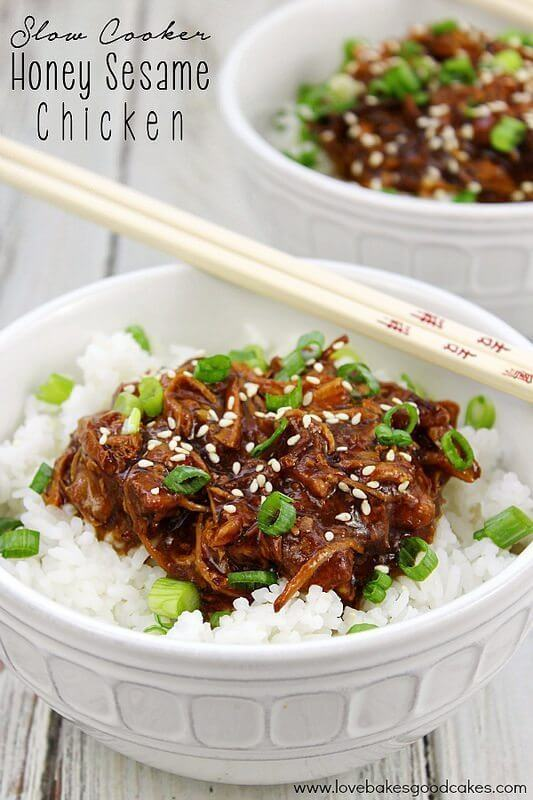 Slow Cooker Honey Sesame Chicken and a Slow Cooker Giveaway!