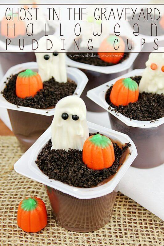 Ghost in the Graveyard Halloween Snack Pack Pudding Cups