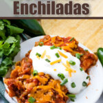 enchiladas on plate