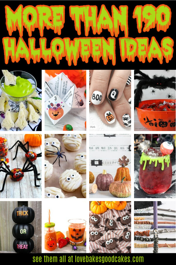 More than 190 Halloween ideas. Everything you need to plan the best Halloween ever. Includes food, crafts, decorations, party ideas, and more!