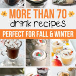 more than 70 drink recipes collage
