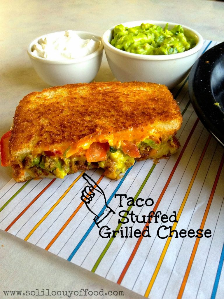 Taco Grilled Cheese...you know you want one!  www.soliloquyoffood.com