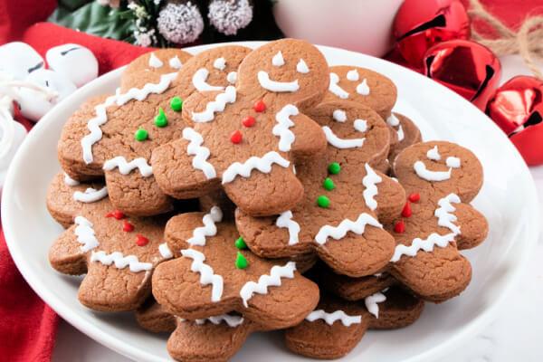 festive cookies on plate