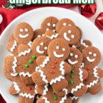 gingerbread men on white plate