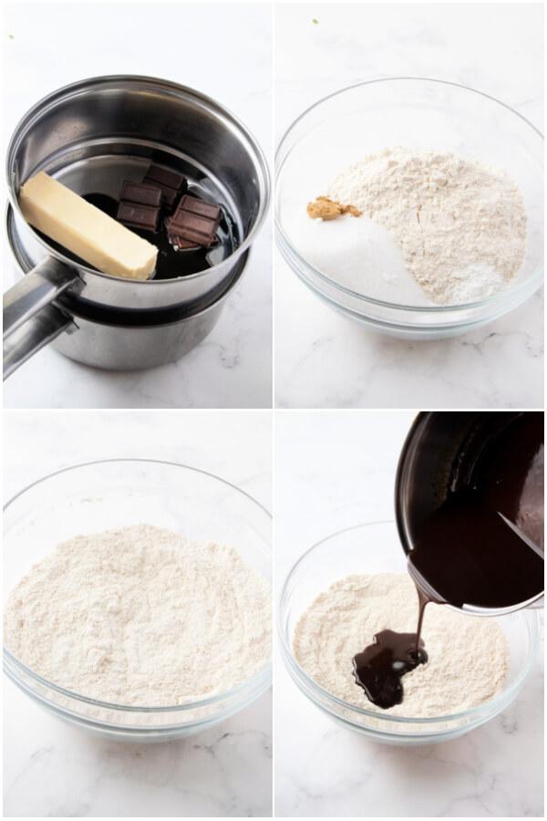preparing the cookie dough