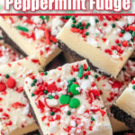 white chocolate peppermint fudge pin image