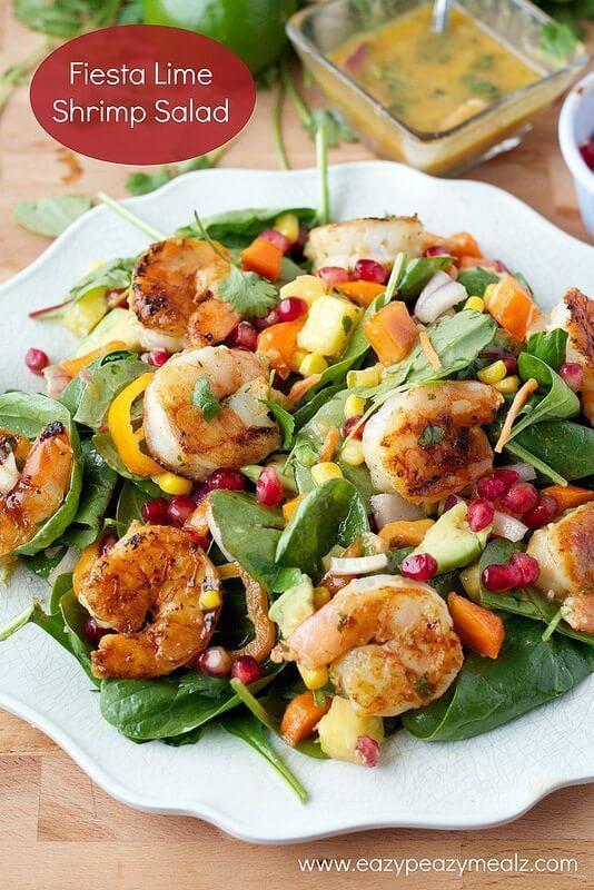 Fiesta Lime Shrimp Salad #EatHealthy15