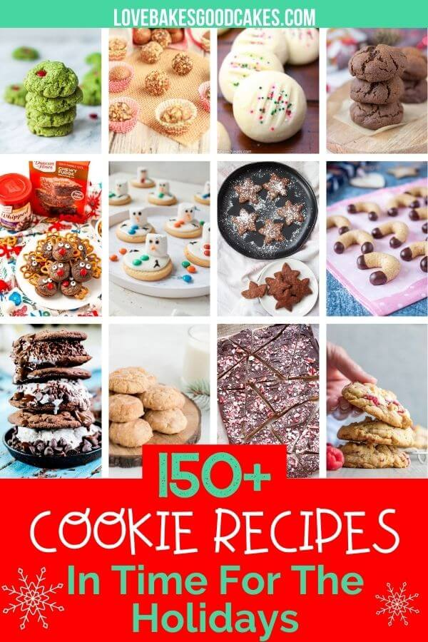 More than 150 Cookie Recipes in time for the holidays! collage