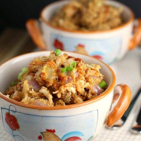 BBQ Chicken Quinoa Skillet Dinner