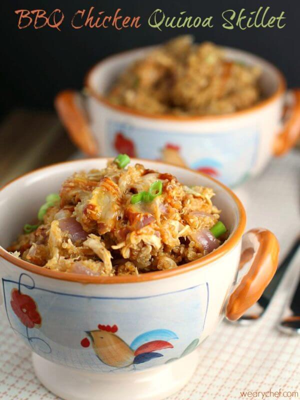 BBQ Chicken Quinoa Skillet Dinner #EatHealthy15