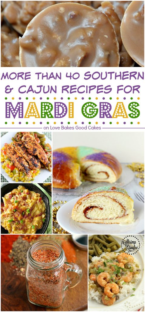 More than 40 Southern & Cajun recipes for Mardi Gras!