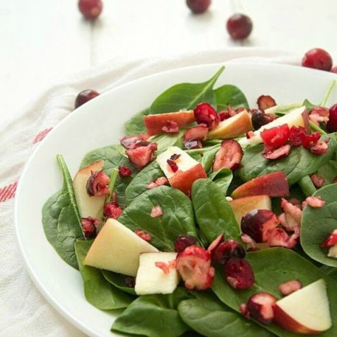 Apple-Cranberry Spinach Salad