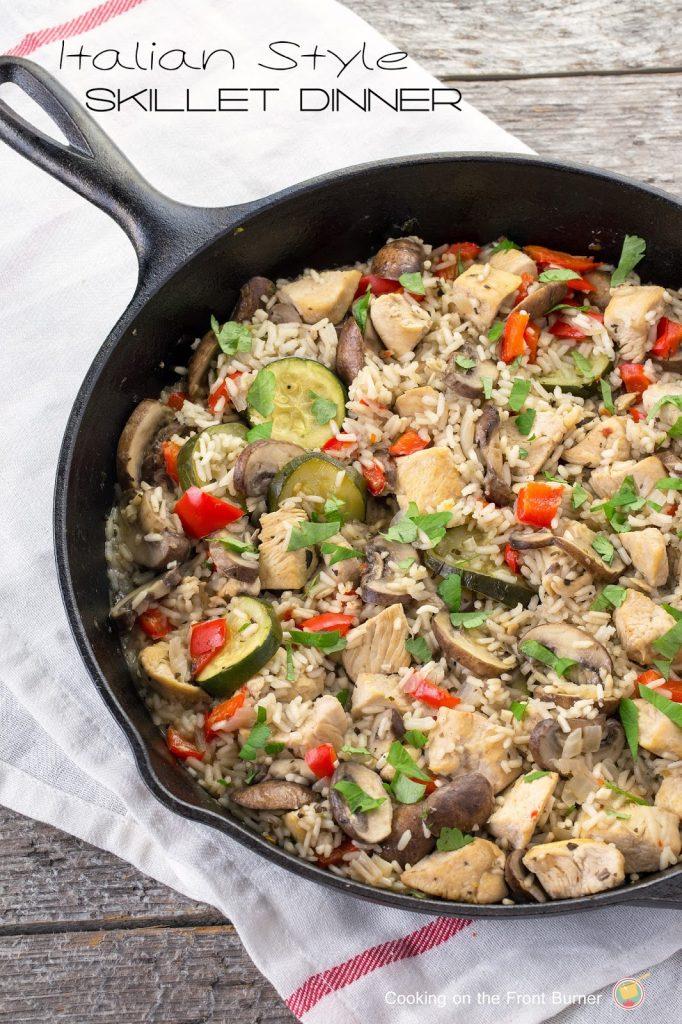 Italian Style Skillet Dinner #EatHealthy15