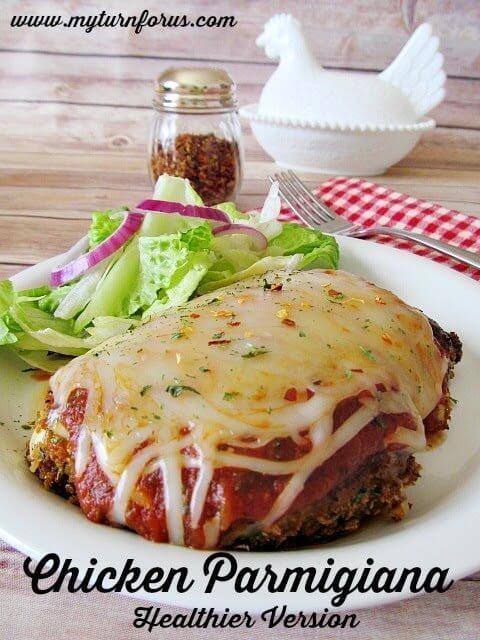 Chicken Parmigiana – Healthier Version #EatHealthy15