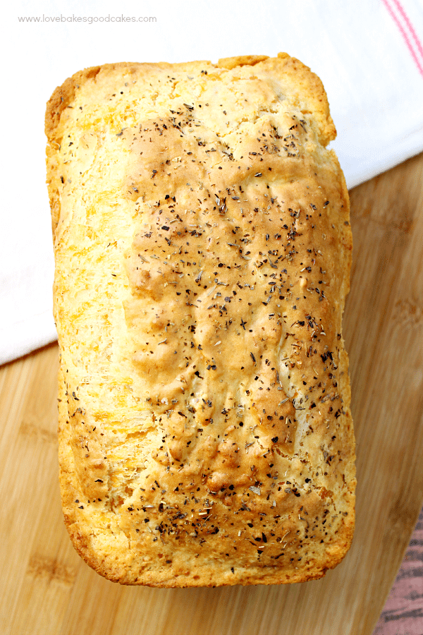 This Garlic Cheddar Quick Bread is the perfect accompaniment to dinner! Serve it warm or at room temperature - either way, your family will love it!