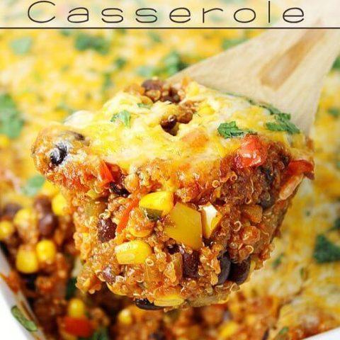 Black Bean & Corn Enchilada Quinoa Casserole
