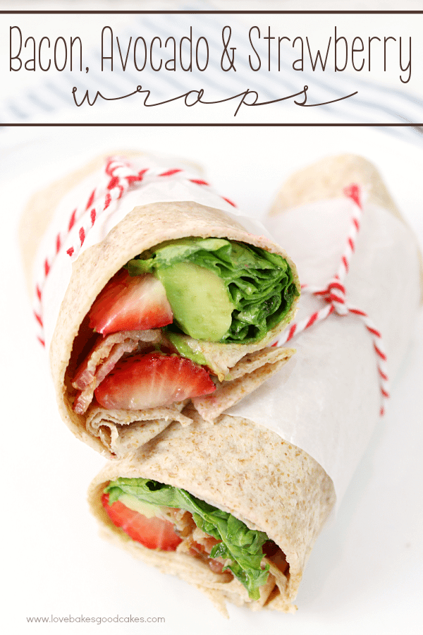 Bacon, Avocado & Strawberry Wraps