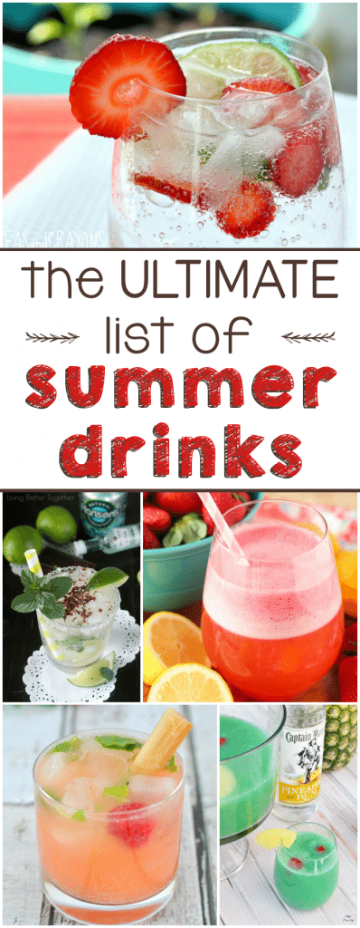 The ULTIMATE list of Summer Drinks!