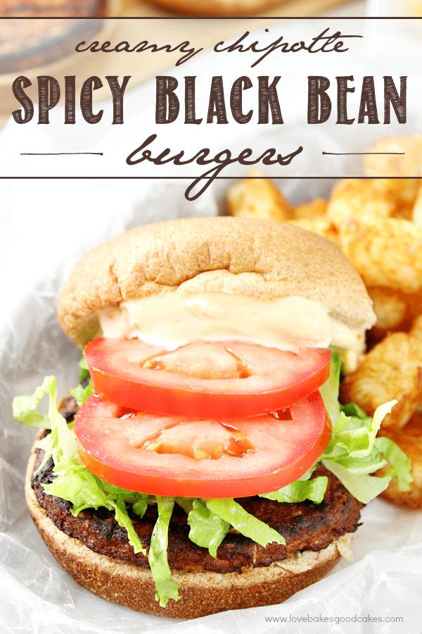 Creamy Chipotle Spicy Black Bean Burgers