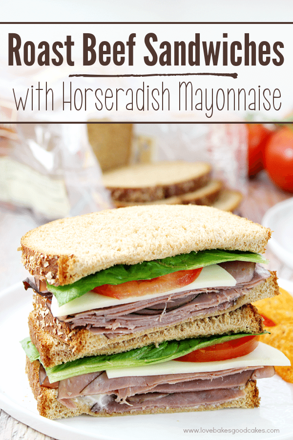 Roast Beef Sandwiches with Horseradish Mayonnaise
