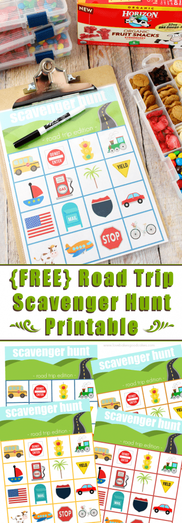 Road Trip Scavenger Hunt Printable