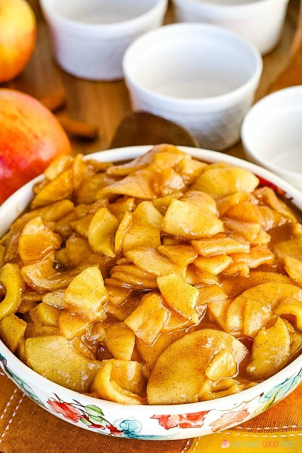Fried Apples - With just a few simple ingredients, you can turn plain apples into a delicious side dish for dinner or a tasty addition to breakfast!