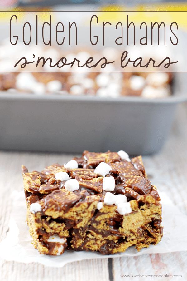 Golden Grahams S'mores Bars | Love Bakes Good Cakes