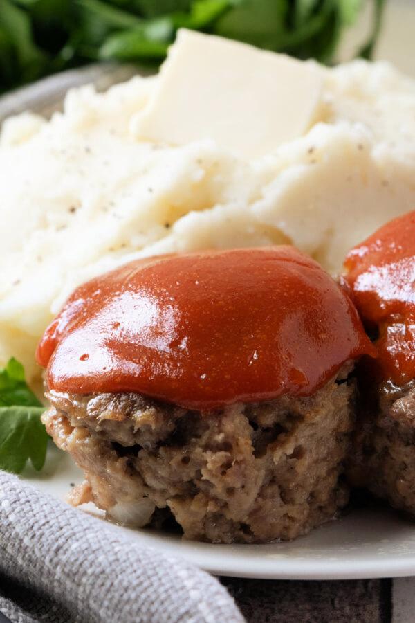 closeup of food on plate