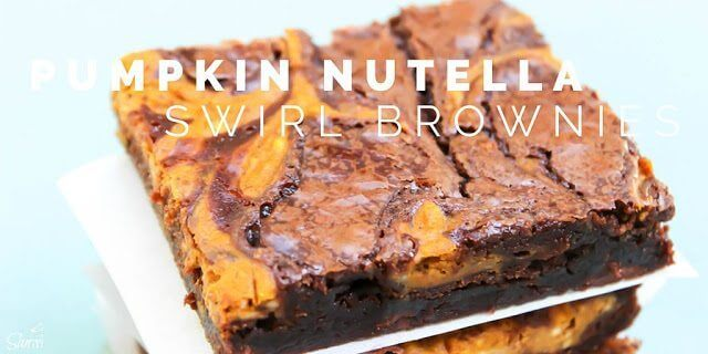 Pumpkin Nutella Swirl Brownies