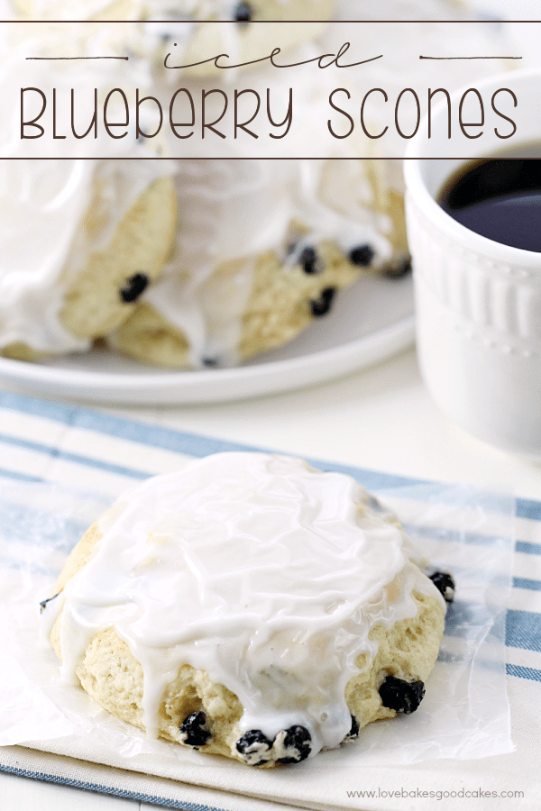 Iced Blueberry Scones