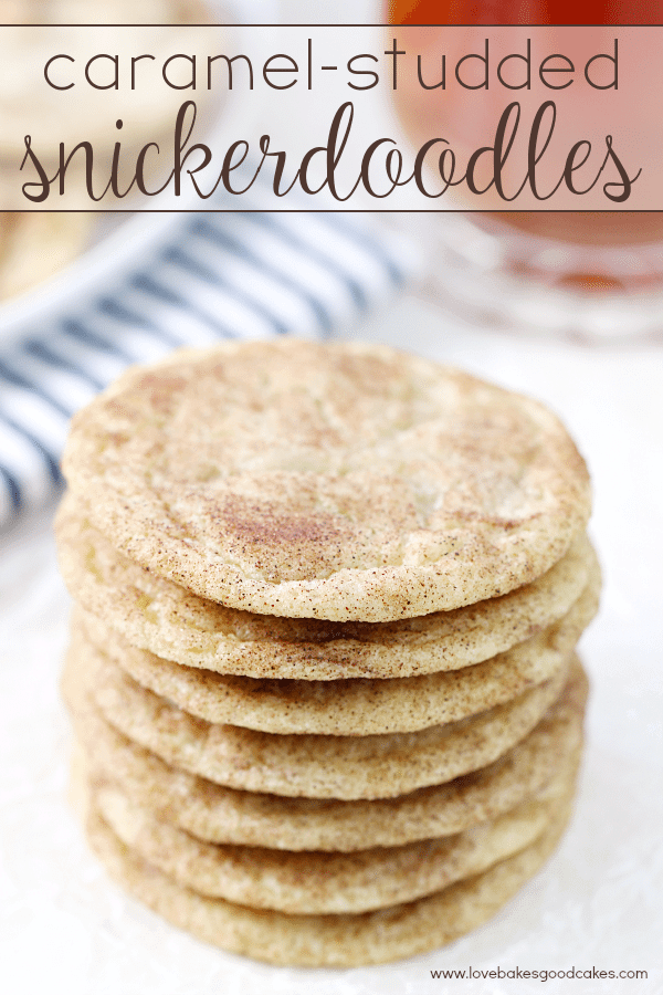 Caramel-Studded Snickerdoodles