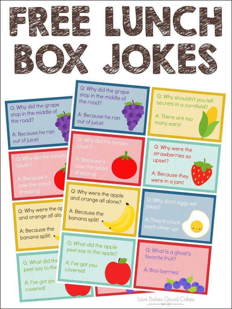 FREE Lunch Box Jokes