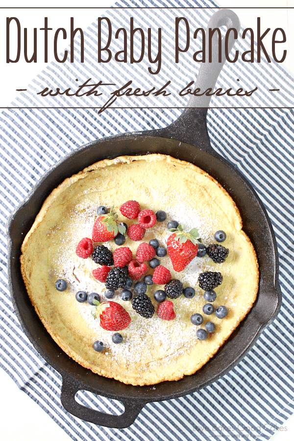 Dutch Baby Pancake with Fresh Berries